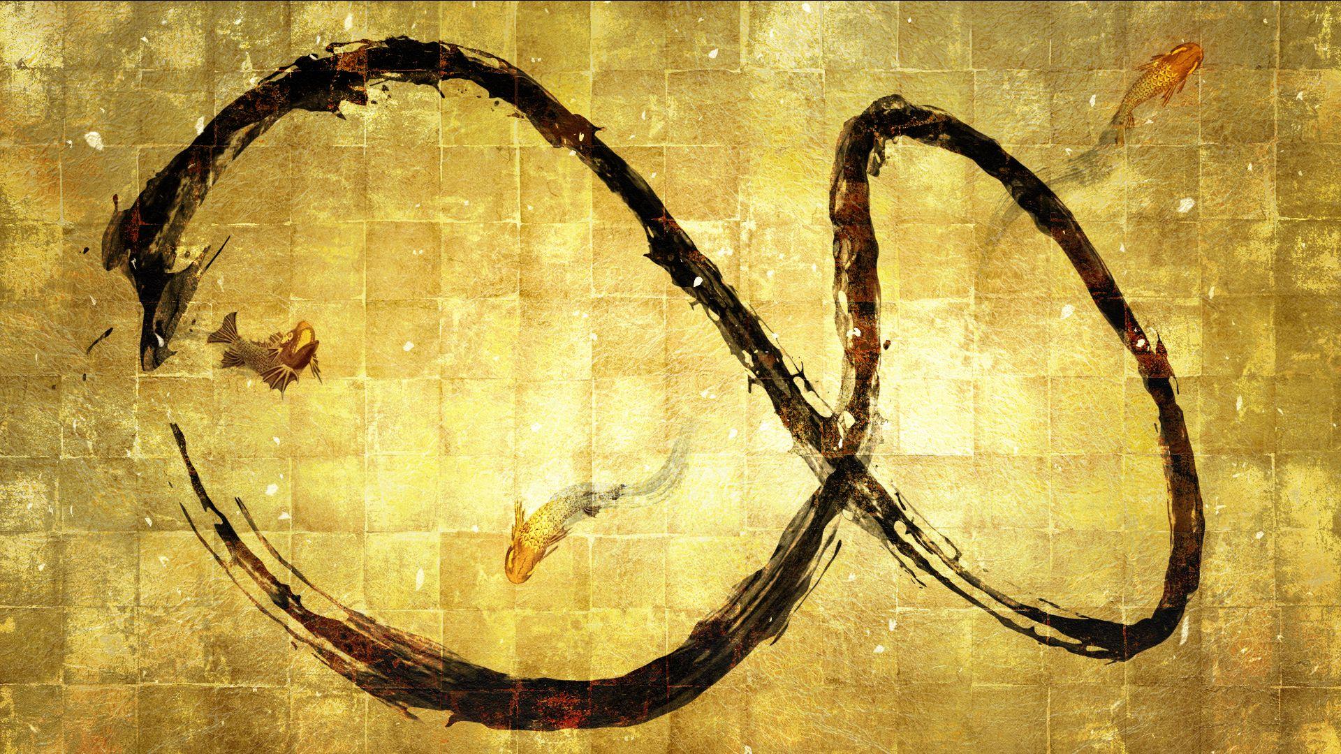 Spatial Calligraphy Infinity Circle Teamlab