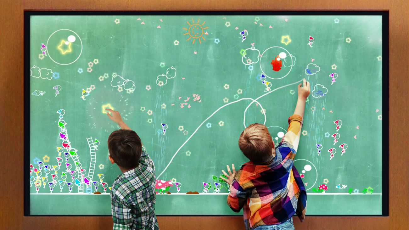 A blackboard where Little People Live
