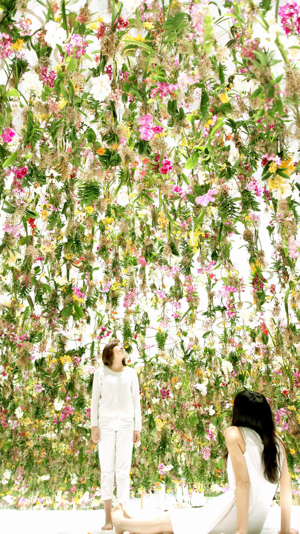 Floating Flower Garden Flowers And I Are Of The Same Root The Garden And I Are One Teamlab